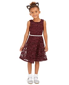 Toddler Girls Glitter Lace Dress
