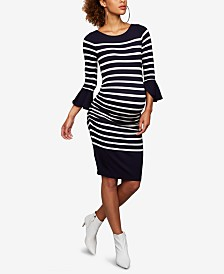 A Pea In The Pod Maternity Bell-Sleeve Sheath Dress