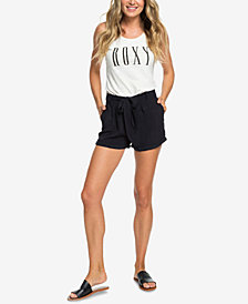 Roxy Juniors' Oversize-Bow Shorts