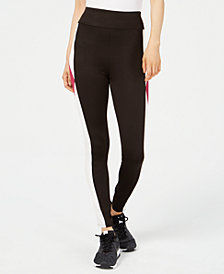 Material Girl Active Juniors' Colorblocked Leggings, Created for Macy's