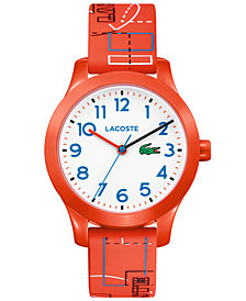 Lacoste Kid's 12.12 Orange Silicone Strap Watch 32mm