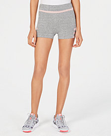Material Girl Juniors' Striped Athletic Shorts, Created for Macy's