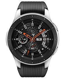 Samsung Unisex Galaxy Bluetooth Onyx Black Silicone Strap Touchscreen Smart Watch 46mm
