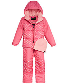 RM 1958 Little Girls Cholie Snowsuit with Hat