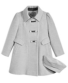 S. Rothschild Little Girls Bandmaster Coat with Hat