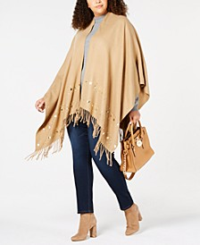 Plus Size Multi-Stud Poncho