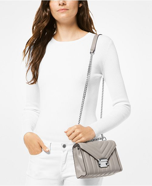 67aac92951b0 Michael Kors Whitney Mini Quilted Leather Shoulder Bag & Reviews ...