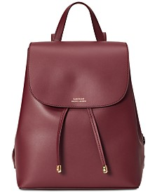 Lauren Ralph Lauren Dryden Flap Leather Backpack