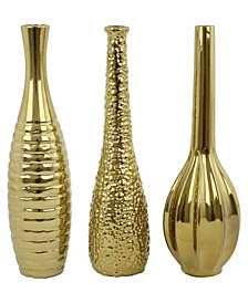 Tianna Gold Vases, Set of 3