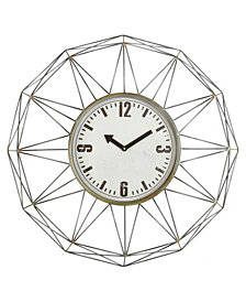 Baldwin Oversized 48'' Metal Wall Clock
