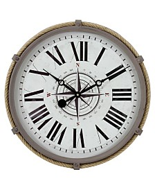 Seabrook Nautical Wall Clock