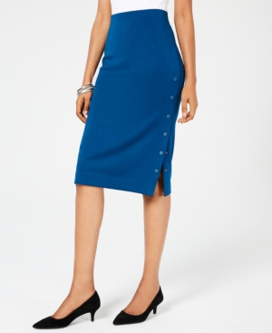 Alfani Snap-Button Pencil Skirt, Created for Macy's