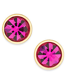 kate spade new york Gold-Tone Crystal Stud Earrings
