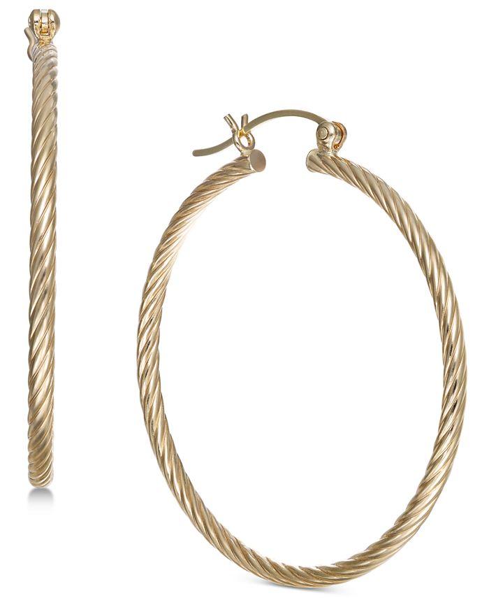 Macy's - Corrugated Medium Hoop Earrings in 14k Gold