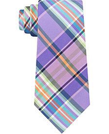 Tommy Hilfiger Men's Plaid Silk Tie
