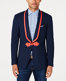 Tallia Men's Big & Tall Slim-Fit Stretch Navy Solid Shawl-Lapel Sport Coat