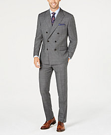 Lauren Ralph Lauren Men's Classic-Fit UltraFlex Stretch Black/White Plaid Double-Breasted Suit