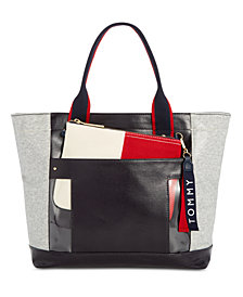 Tommy Hilfiger Classic Tommy Coated Fleece Tote