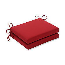 Pompeii Red Squared Corners Seat Cushion