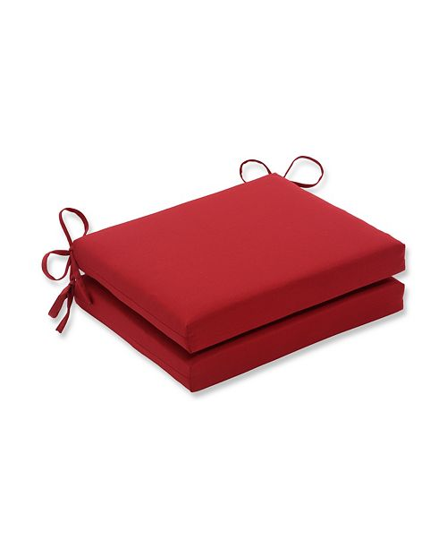 Pillow Perfect Pompeii Red Squared Corners Seat Cushion