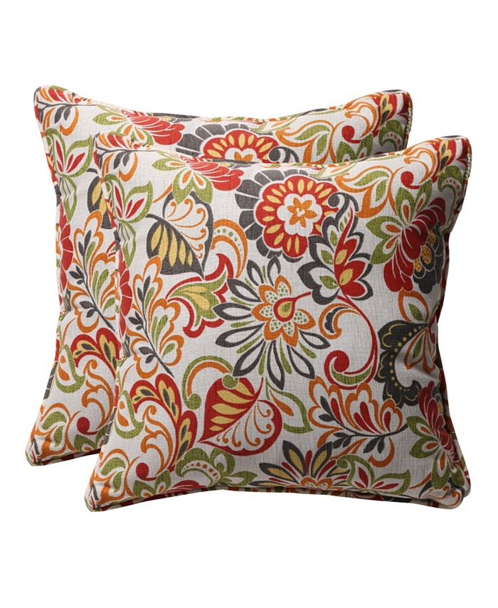 Pillow Perfect - Zoe Citrus 18.5-inch Throw Pillow (Set of 2)