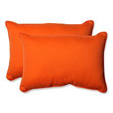 Sundeck Orange Over-sized Rectangular Throw Pillow, Set of 2
