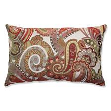 Crazy Rosewood Rectangular Throw Pillow