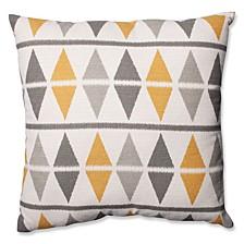 "Ikat Argyle Birch 24.5"" Floor Pillow"