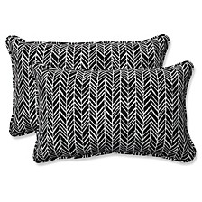 Herringbone Night Rectangular Throw Pillow, Set of 2