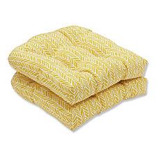 Herringbone Egg Yolk Wicker Seat Cushion, Set of 2