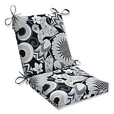 Sophia Graphite Squared Corners Chair Cushion