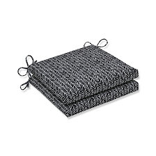 Herringbone Night Squared Corners Seat Cushion, Set of 2