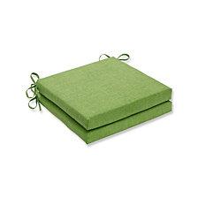 Baja Linen Lime Squared Corners Seat Cushion, Set of 2