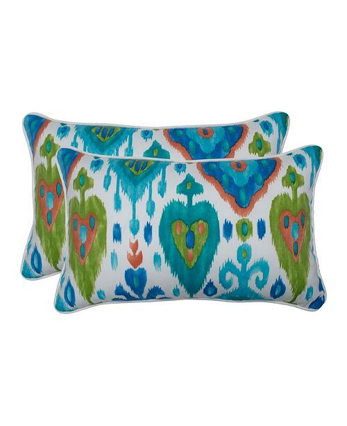 Pillow Perfect Paso Caribe Rectangular Throw Pillow, Set of 2
