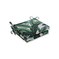 Swaying Palms Capri Squared Corners Seat Cushion, Set of 2