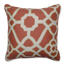 """Burnished Tile Spice 16.5"""" Throw Pillow"""