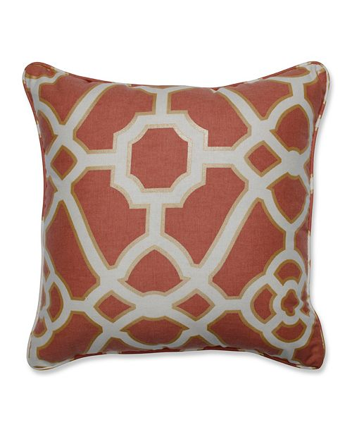 """Pillow Perfect Burnished Tile Spice 16.5"""" Throw Pillow"""