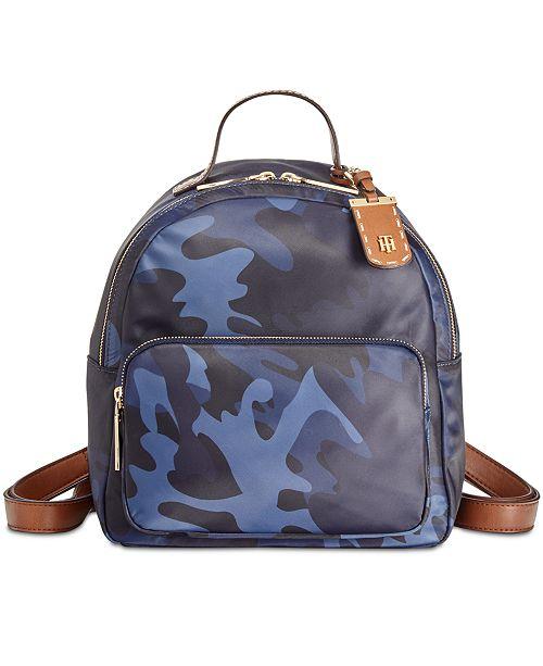 a8d3fbd9 Tommy Hilfiger Julia Camo Small Dome Backpack & Reviews - Handbags ...