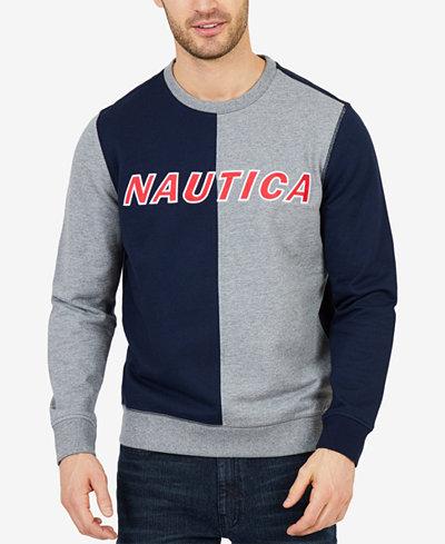 Nautica Men's Big & Tall Colorblock Crew Neck Sweater