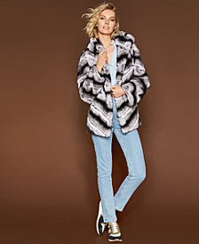 The Fur Vault Reversible Rabbit Fur Jacket
