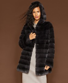 1bf064782bd7f The Fur Vault Reversible Rabbit Fur Coat