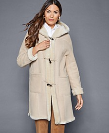 Hooded Shearling Lamb Coat