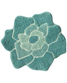"Bacova Cora Cotton 25"" x 25"" Flower Bath Rug"
