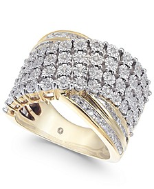 Diamond Cluster Statement Ring (1/2 ct. t.w.) in 10k Gold
