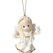 Precious Moments His Perfect Peace And Love 7th in Annual Angel Series Ornament