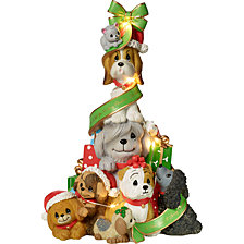 Precious Moments A Canine Christmas Lighted Music Box