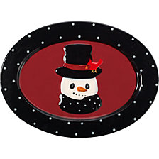 Precious Moments Snow Much Fun Snowman Platter