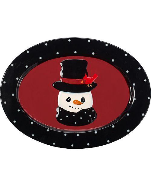 Precious Moments Snow Much Fun Snowman Platter