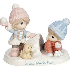 Snow Much Fun Boy and Girl Figurine