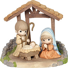 Precious Moments O Come Let Us Adore Him 4 Piece Nativity Set